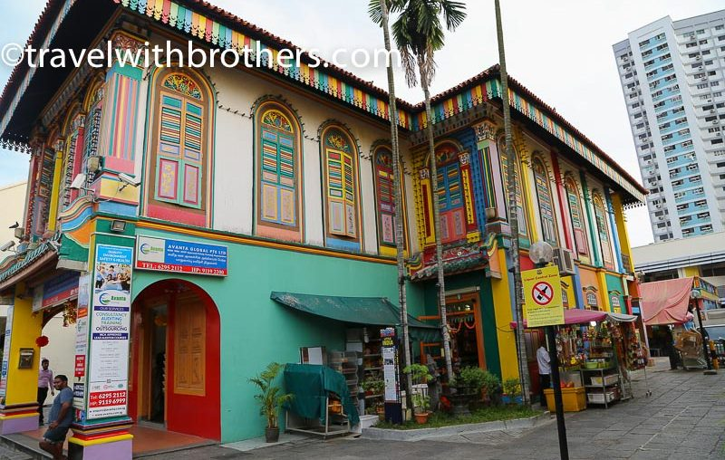 Singapore, a colourful building in Little india