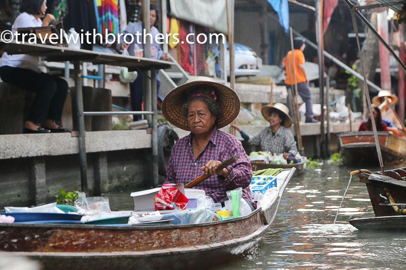 Thailand, Danmorn Saduak floating market