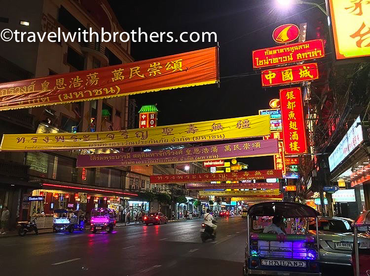 Bangkok, the lights of Chinatown