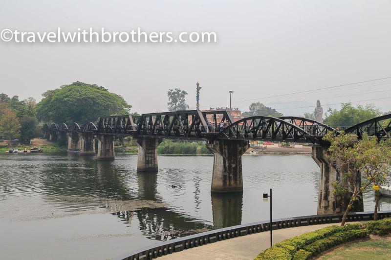 Thailand, the bridge on th Kwai river in Kanchanaburi
