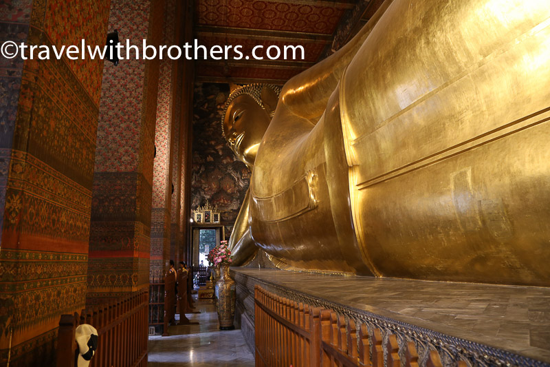 Bangkok, the reclining Buddha in Wat Pho