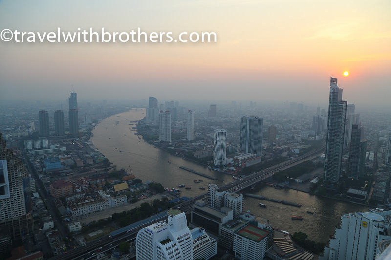 Bangkok, view from Lebua State Tower skybar