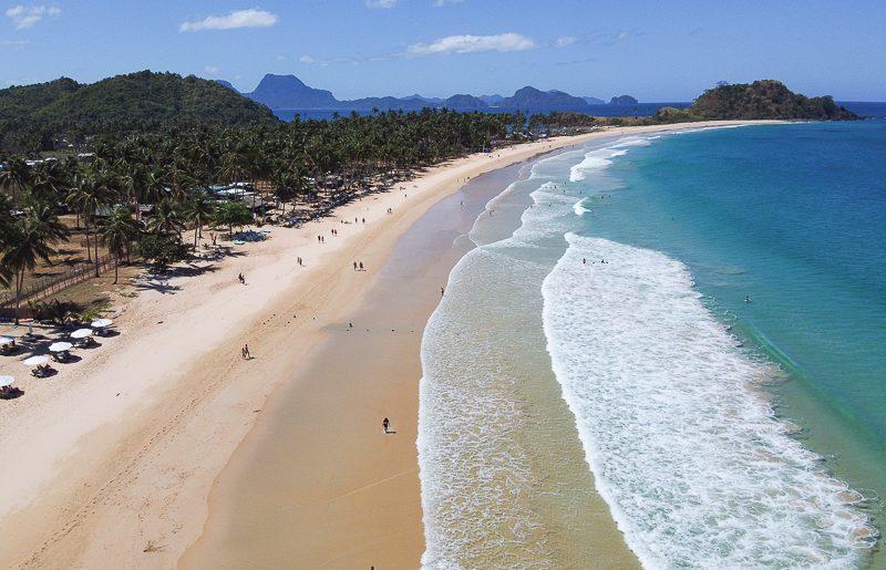 Philippines, the stunning Nacpan beach in El Nido Palawan