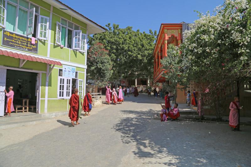 L'ingresso della scuola Aung Myae