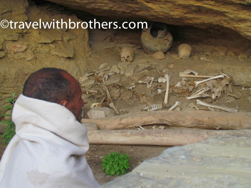 Skulls of pilgrims at Petros We Paulos church